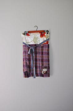 Upcycled Obi Style BeckyRose Wrap Skirt/Kanji by RebirthRecycling, $55.00
