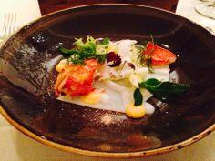 Lobster Salad with shellfish jelly, verbena and yoghurt Lobster Salad, Verbena, Menu Restaurant, Jelly, Ethnic Recipes, Food, Meal, Marmalade, Essen