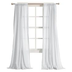 No. 918 Harvey Cotton Gauze Curtain Panel - White