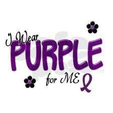 I wear Purple for me :)