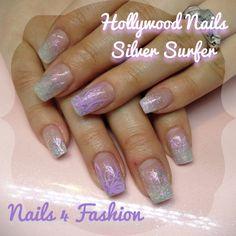 Hollywood Nails Silver Surfer fading Nailart @ Nails 4 Fashion