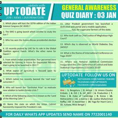 General Awareness #Quizdiary : 03 Jan Mobile Application, January