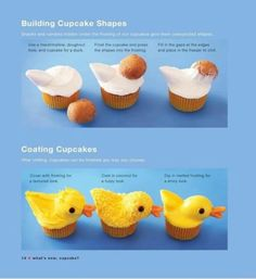 Baby shower ideas rubber ducky duck cupcakes Ideas for 2019 Duck Cupcakes, Easter Cupcakes, Yummy Cupcakes, Cupcake Cookies, Duck Cake, Easter Cake, Easter Treats, Baby Shower Duck, Rubber Ducky Baby Shower