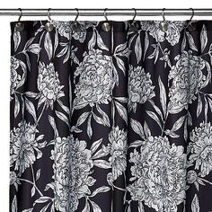 WaterShed® Single Solution™ Peony Fabric Shower Curtain - Bed Bath & Beyond Bathroom Renos, Small Bathroom, Bathroom Remodeling, Bathroom Ideas, Bathrooms, Goth Home, Spring Home, Fabric Shower Curtains, Bathroom Styling