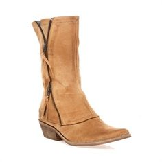suede . French . boots . zipper