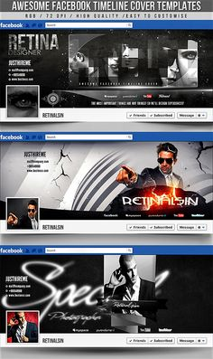 PSD Awesome Facebook Timeline Covers 3in1 by retinathemes on deviantART