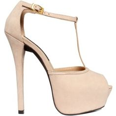 A peep toe platform in neutral colors like this pale pink are perfect for pulling together a summer look!