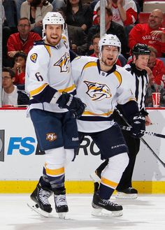 Shea Weber and Kevin Klein