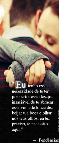 Simples assim.... ♡♡ More Than Words, Love You More Than, I Love You, Peace And Love, My Love, Portuguese Quotes, Peace Love And Understanding, Me As A Girlfriend, Me Quotes
