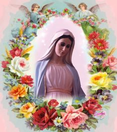 --Lianna-- Mary Jesus Mother, Blessed Mother Mary, Mary And Jesus, Blessed Virgin Mary, Religious Pictures, Jesus Pictures, Religious Art, Feast Of St Joseph, Hail Holy Queen