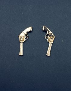 Gold Revolver Earrings