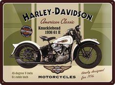 Harley-Davidson Knucklehead Placa de lata