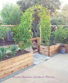 vegetable garden design ideas for beginner 40 - Home projects - Garten Small Cottage Garden Ideas, Garden Cottage, Small Garden Plans, Small House Garden, Backyard Cottage, Corner Garden, Amazing Gardens, Beautiful Gardens, Beautiful Beds