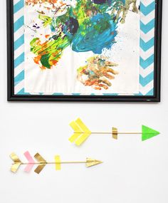 Use wood skewers and your favorite patterns of washi tape to make these cute arrows. #DIY
