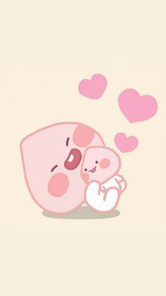 Kakao Friends, Cute Designs, Hello Kitty, Peach, Study, Kawaii, Cartoon, Wallpaper, Pictures