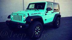 Teal Jeep