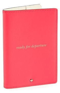 kate spade new york 'bon voyage' passport cover available at #Nordstrom