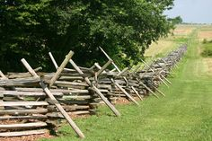 Civil War fence...love these