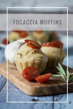 Foccacia Muffins mit Tomate und Rosmarin