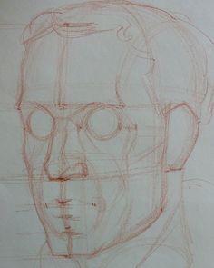 Step 2 #art #artist #portrait #sketch #drawing #portraitdrawing #anatomydrawing #anatomy #head #construction #figure #la #aesthetic #howtodraw #bestdm #stepbystep #howto