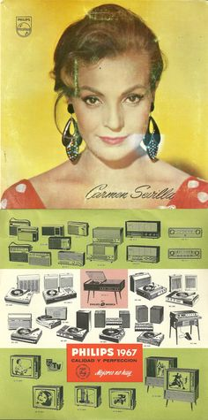 Anuncio de Philips con Carmen Sevilla, 1967.