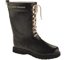 Ilse Jacobsen Womens Midcalf Rubber Boot Black 38 ** To view further for  this item