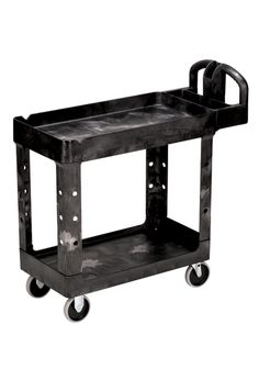 """Rubbermaid 4500 Utility Cart: Heavy-duty mobile cart with 2 shelves 32"""" X 30"""""""
