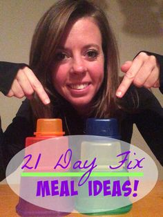 ::: 21 Day Fix Meal Ideas ::: #21DayFix #Meals #Health --- great meal & snack ideas that are 21 Day Fix approved (with container breakdown!) http://papasteves.com/