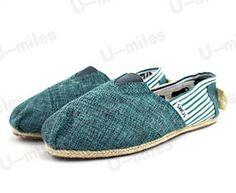 TOMS Blue Classics University Rope Sole Women Shoes For Cheap