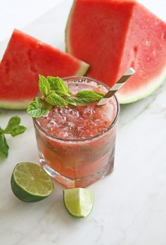 Watermelon Mojitos a