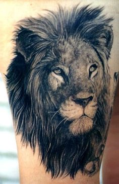 Cool Lion Tattoo, This lion is beautiful