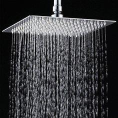 10 inch rain shower head. 12 Rainfall Shower Head YAWALL Ultra thin Stainless Steel  High Polish ChromeLuxury Durable 10 Inch Eco friendly Contemporary Rain Chrome