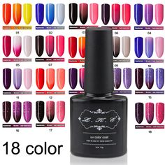 Cheap nail gel builder, Buy Quality nails gel uv directly from China gel uv for nails Suppliers:       LKE 18 Types Temperature Change Chameleon Color Changing UV Nail Gel Polish Long Lasting UV Gel Nail VarnishUSD 2.