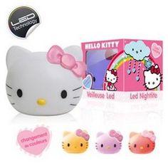 Mini veilleuse Hello Kitty change couleur ref 91