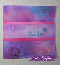Greetings card made using Crafter's Companion Foil Transfers and Foils – Designed by Lynne Farr #crafterscompanion