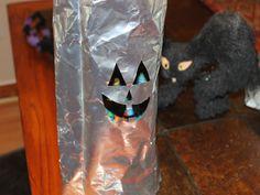 HOW TO: Make a Coffee Bag Halloween Jack o Lantern #halloween #crafts