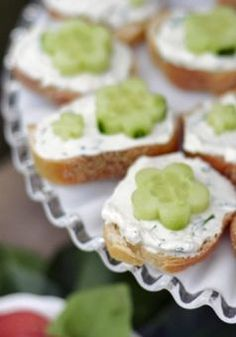 Simple Open-Faced Cucumber Tea Sandwiches—a perfect little treat for your guests!