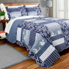 Features:  -Easy care; machine wash and dry.  -Finished with meticulous vermicelli stitching and fabric bound edges.  -Set includes one quilt and matching sham(s) with envelope opening.  -The perfect