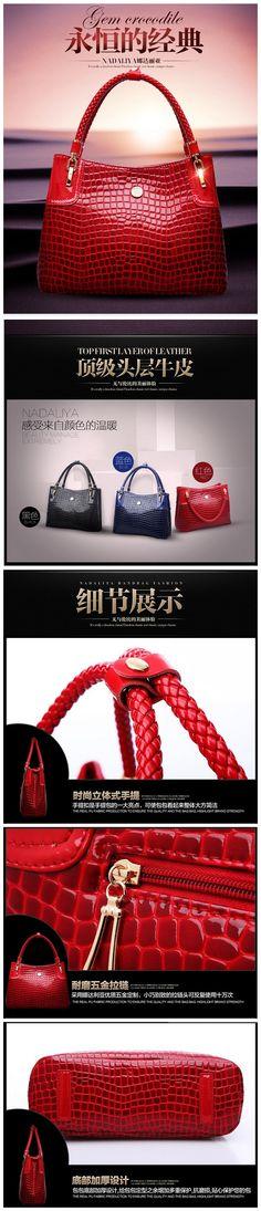 fashion Crocodile handbags,ladies handbags,leather bags for women$51.87