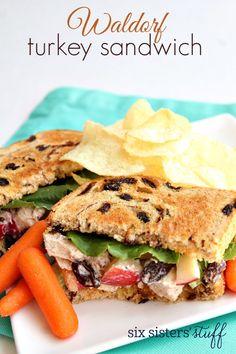 Waldorf Turkey Sandwich – Six Sisters' Stuff