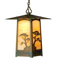 "America's Finest Lighting Company Cobblestone 1 Light Outdoor Hanging Lantern Shade Finish: Gold Iridescent, Finish: New Verde, Size: 10.5"" H x 6.5..."