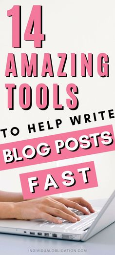 Writing blog posts takes time and lots of effort. But with these 14 best blogging tools to help you write blog posts fast. You can create content for your new blog fast without having to sacrifice quality. So click here to get the list every blogger should have. For these best blogging tools and resources for their blog. As they can boost your blogging success & help you to write better blog content. #Blogging #BloggingTips #BlogTips #NewBlogger #HowToStartABlog #BloggingForBeginners Blog Writing Tips, Writing Skills, Make Money Blogging, Earn Money, Blogger Tips, Blogger Themes, Blogging For Beginners, News Blog, How To Start A Blog