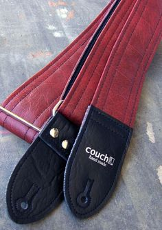 The Dark Red Luggage Guitar Strap