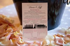 The guests know exactly who is in the Bridal Party with this fun and creative program | villasiena.cc
