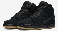 brand new e2c0e 5ecdf A Nike SB Dunk High coming in an all-black upper and a gum bottom is  scheduled to release in the near future.