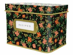 A vintage-inspired tin box—plus 12 letterpress dividers and 24 recipe cards to match—will beautifully safeguard handwritten recipes.