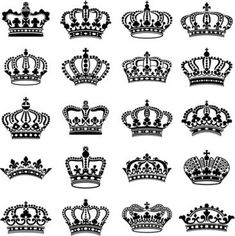 Royal king and queen crown illustration Crown Finger Tattoo, Queen Crown Tattoo, Crown Silhouette, Silhouette Vector, Tattoo Couronne, Piercing Tattoo, Piercings, Coroa Tattoo, Crown Illustration