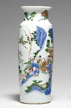 A well-painted wucai sleeve vase, Transitional period, ca