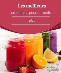 Les meilleurs smoothies pour un ventre plat Smoothies With Almond Milk, Smoothies For Kids, Good Smoothies, Fruit Smoothies, Smoothie Prep, Smoothie Recipes, Smoothie Detox, Detox Drinks, Healthy Drinks