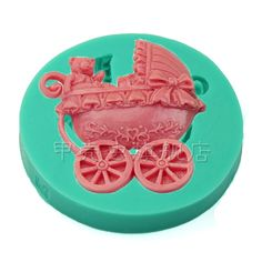 Baby shower stroller Fondant Cake Chocolate Pudding soap soft silicone mold Baby birthday party decoration baking tools(China (Mainland))